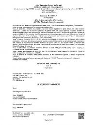 AN 139 DEL 27.02.2017 (FK 866 HZ) INTEGRAZIONE MEZZO CAT. 4 D – 5 F (SCAD. 27.02.2022) NR. 2