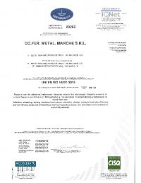 ISO 14001 CERTIFICATO 05.06.2018